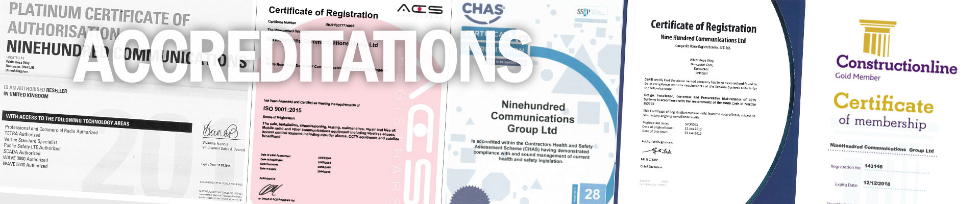 accreditations banner image
