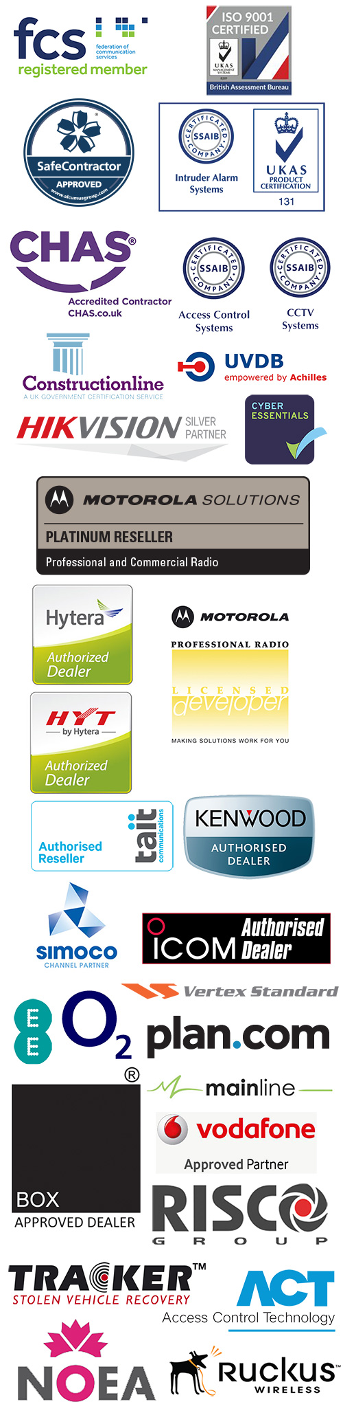 Accreditations and Credentials Side Module Logos