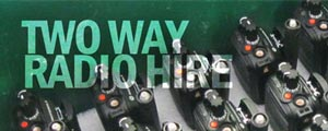 Book two way radio hire