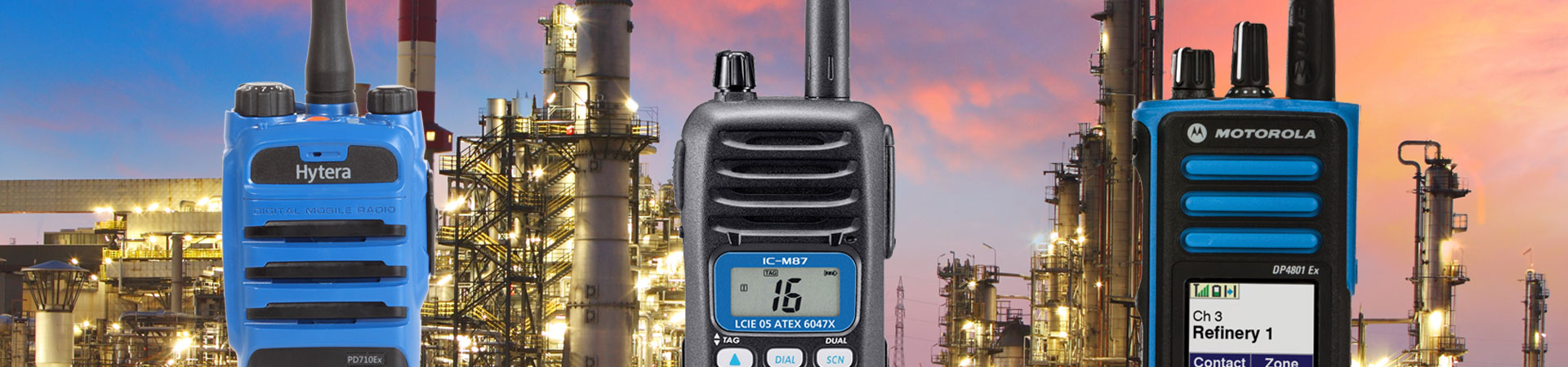 ATEX two way radio hire banner image