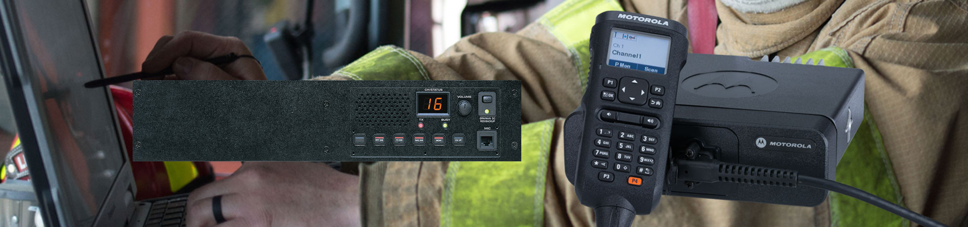 Two way radio system hire banner image