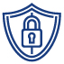 Increases safety and security icon