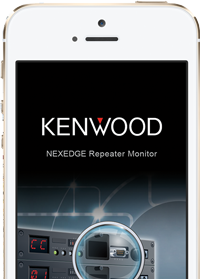 Kenwood Repeater remote monitoring on iPhone screenshot