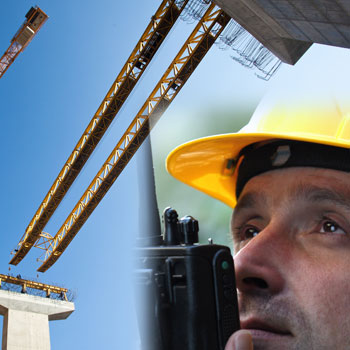 hire radios for construction sites