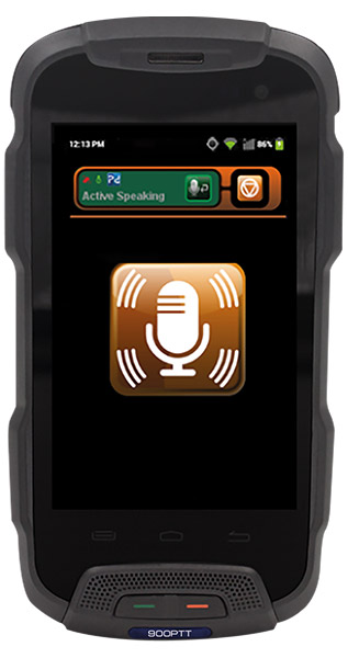 900PTT sy6 Handset image - front