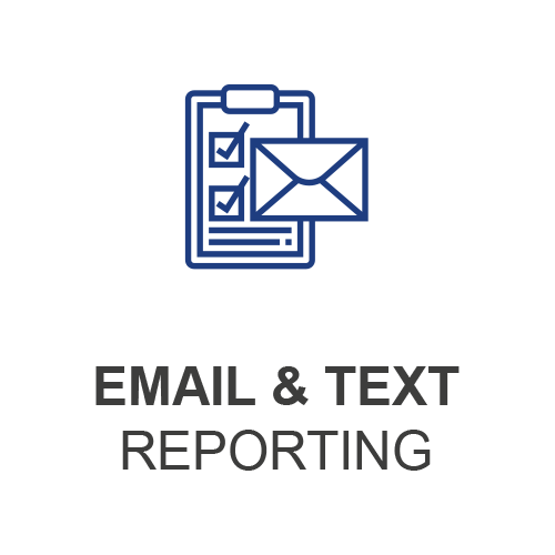 Email and Text Reporting Icon